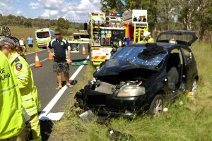 Two Injured In Highway Crash