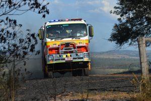 Fire Burns Out Grassland