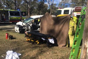 Woman Airlifted From Crash
