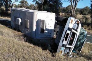 Caravan Blamed For Crash
