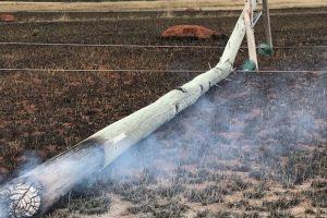 Burnt Pole Causes Blackout