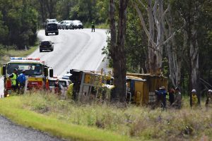 Truck Driver Escapes Injury