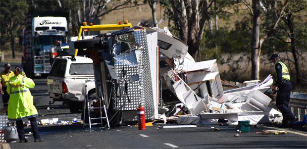 4WD Plunges Off Bridge - southburnett com au | southburnett