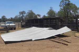 Wind Whips Roofs Off Stables