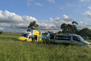 Driver Airlifted To Hospital