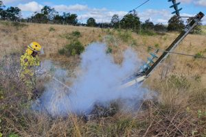 Power Pole Sparks Grassfire