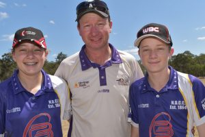 Cricketers Step Up To Crease