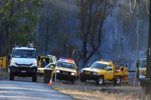 Grass Fire At Wattle Camp