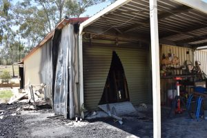 Men's Shed Goes Up In Flames