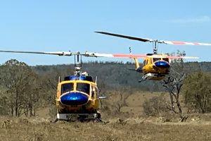 Choppers Tackle Maidenwell Fire