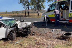 Elderly Man Injured In Crash