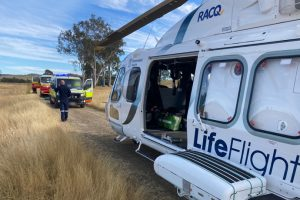 Two Airlifted After Crash