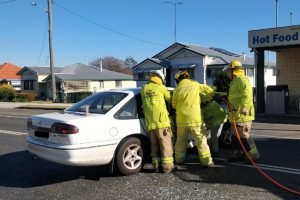 Five Treated After Crashes
