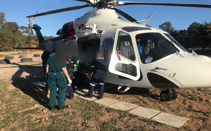 Teen Airlifted After Crash