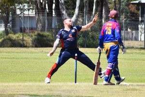 Cricketers Hit The Pitch