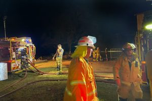 Hay Shed Erupts In Flames