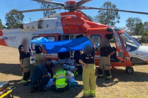Woman Airlifted After Crash