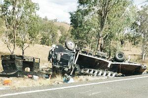 Three Hurt In Truck Crash