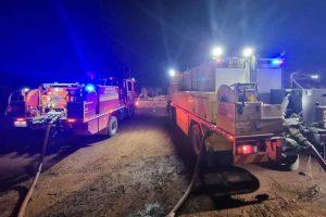Firies Battle Large Mulch Fire