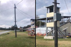 Power Pole Sparks Concerns
